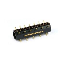 Arrowmax AM-180006 Ultra Pinion Holder 15T~42T (48DP) / 21T~48T (64DP) Black Golden
