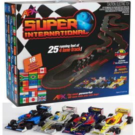 AFX AFX21018  AFX HO 4-Lane Super International Race Car Set