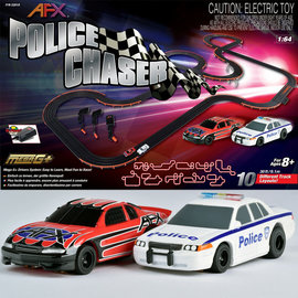 AFX AFX22019  MegaG+ Police Chaser Race Set 10 Different Layouts : 1:64 / HO Scale S