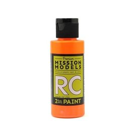 Mission Models MIOMMRC-050  Fluorescent Racing Bright Orange Acrylic Lexan Body Paint (2oz)