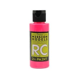 Mission Models MIOMMRC-051  Fluorescent Racing Pink Acrylic Lexan Body Paint (2oz)