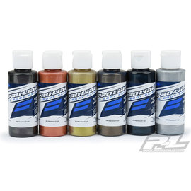 Proline Racing PRO6323-05  Pro-Line RC Body Airbrush Paint Pure Metal Set (6)