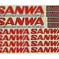 Sanwa SNW107A90533A  Sanwa/Airtronics Decal Sheet