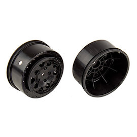 Team Associated ASC91101  Black KMC Hex Wheels