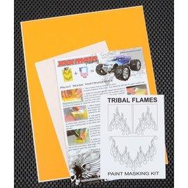 XXX Main M055L Tribal Flames Paint Mask Kit