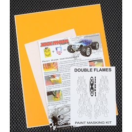 XXX Main M025L Double Flames Paint Mask Kit