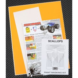 XXX Main M001L Scallops Paint Mask Kit
