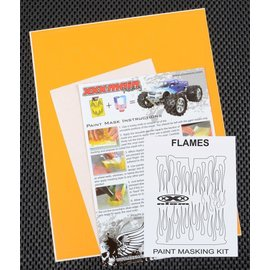 XXX Main M004L Flames Paint Mask Kit