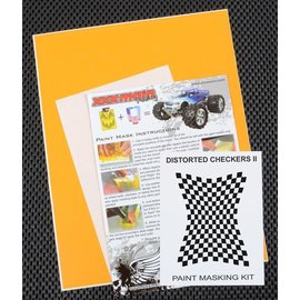 XXX Main M006L Distorted Checkers 2 Paint Mask Kit