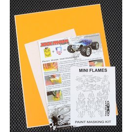 XXX Main M020L Mini Flames Paint Mask Kit
