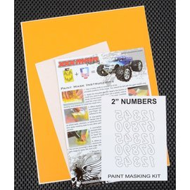 "XXX Main M011L 2"" Reverse Numbers Paint Mask Kit"