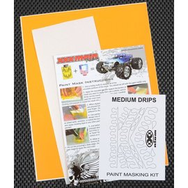 XXX Main M003L Medium Drips Paint Mask Kit