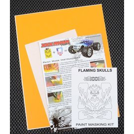XXX Main M009L Flaming Skulls Paint Mask Kit