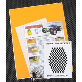 XXX Main M002L Distorted Checkers Paint Mask Kit
