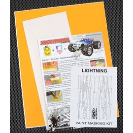 XXX Main M010L Lightning Bolts Paint Mask Kit