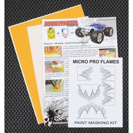 XXX Main M004S Micro Pro Flames Paint Mask Kit