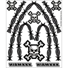 XXX Main R020  Barbed Wire Internal Graphics Sticker Sheet