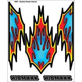 XXX Main R007  Scallop Flames Internal Graphics Sticker Sheet