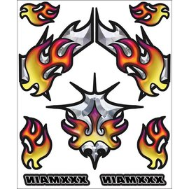 XXX Main R001  Chromal Blaze Internal Graphics Sticker Sheet