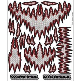 XXX Main R015  Diamond Scallops Internal Graphics Sticker Sheet