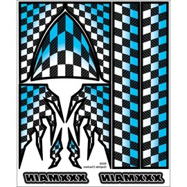 XXX Main R009  Graphite Checkers Internal Graphics Sticker Sheet