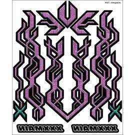 XXX Main R021  Graphite Checkers Internal Graphics Sticker Sheet
