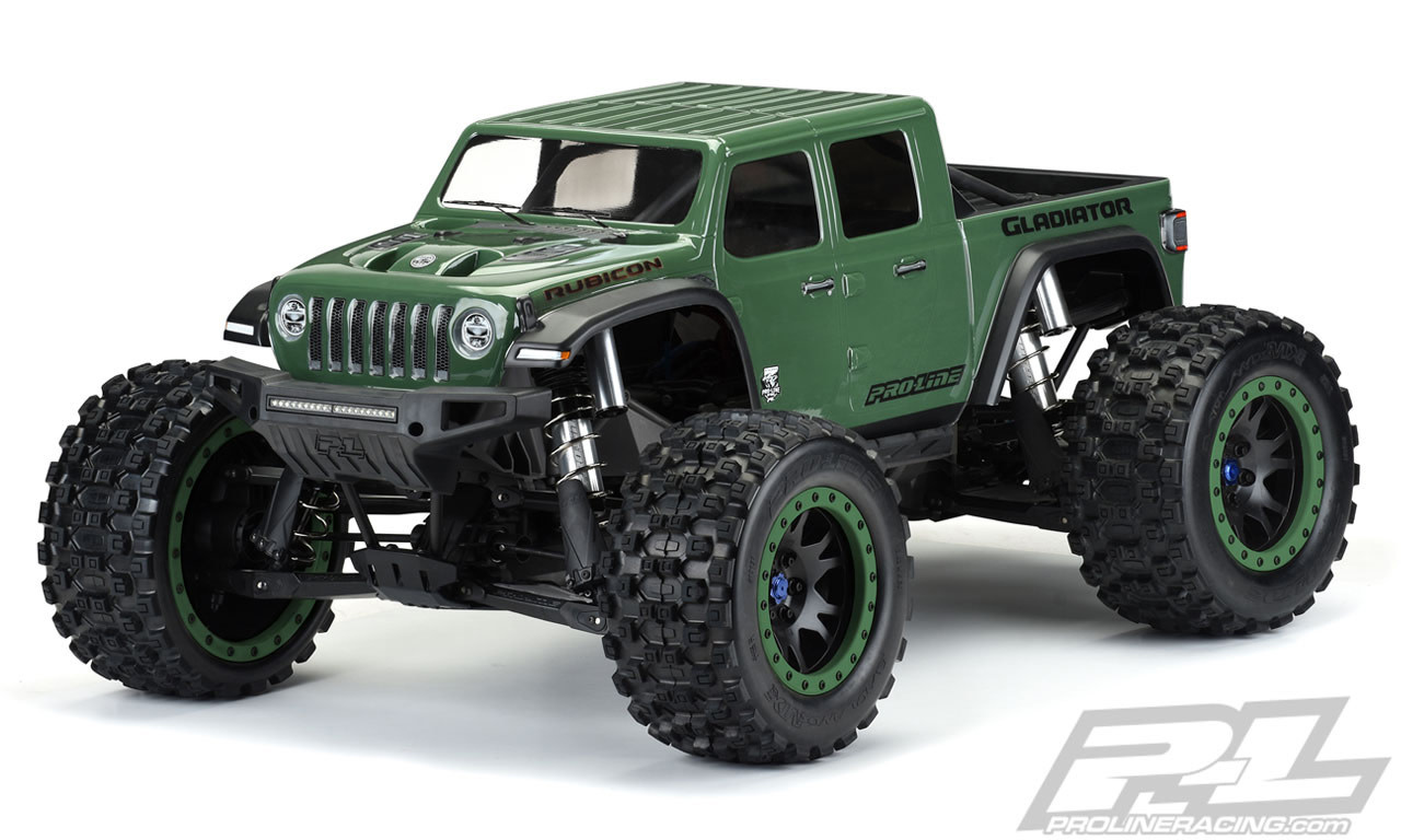 Pro3533 17 Jeep Gladiator Rubicon Pre Cut Monster Truck Body Clear Michael S Rc Hobbies