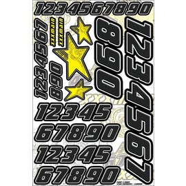 XXX Main N003 Star Number Set - Carbon