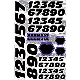 XXX Main N004 Moto Number Set - Black
