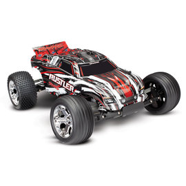 Traxxas TRA37054-4  Red Rustler Stadium Truck RTR without Battery/Charger