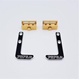 7075.it FF75-XT19GH  Brass Battery Mount System -XRAY T4