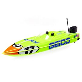"""Proboat PRB08044T1  17"""" Power Boat Racer Deep-V RTR, Miss GEICO"""