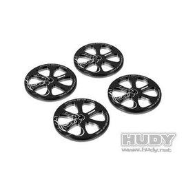 Hudy HUD190370  Alum Set-Up Wheels for 1/10th Rubber Tires for Tweak Station (4)