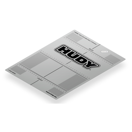 Hudy HUD108360  TC Plastic Touring Car Set-Up Board Decal For 1/10th Scale