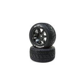 Duratrax Bandito X Belted Mounted Tires, Fits Traxxas X-Maxx 24mm Black (2)