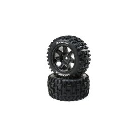 Duratrax DTXC5501  Lockup X Belted Mounted Tires, 24mm Black (2)