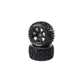 Duratrax DTXC5501  Lockup X Belted Mounted Tires, Fits Traxxas X-Maxx 24mm Black (2)