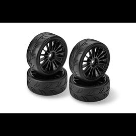 Hudy HUD803040  HUDY 1/10 Pre-Cut Slick Tires Right & Left (2+2)