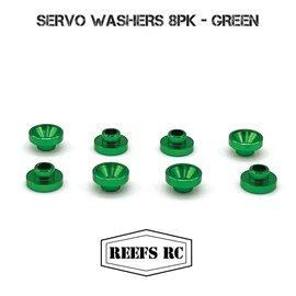 Reefs SEHREEFS48  Servo Washers 8pk- Green