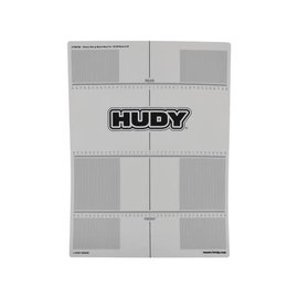 Hudy HUD108760  1/8 Off-Road & GT Plastic Set-Up Board Decal For 1/10th Scale