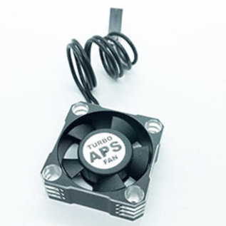 APS Racing APS91168B  APS Blue & Silver Aluminum TURBO28 Cooling Fan 30mm