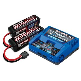 Traxxas TRA2997  6700Mah 4S Battery (2) with EZ-Peak Live Dual Charger Completer Pack