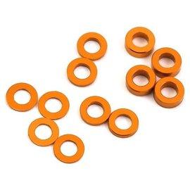 Protek RC PTK-8375  Aluminum Ball Stud Washer Set (Orange) (12) (0.5mm, 1.0mm & 2.0mm)