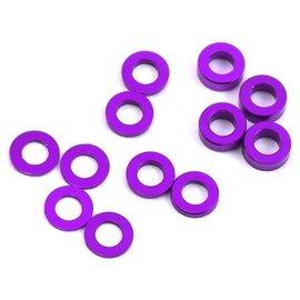 Protek RC PTK-8374  Aluminum Ball Stud Washer Set (Purple) (12) (0.5mm, 1.0mm & 2.0mm)