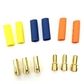 Surpass Hobby USA BUL-35MM 3.5mm Hi Amp Ultra Low Resistance Motor ESC Bullet Connector Set 3pr M/F