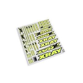 Xray XRA397315  Xray Sticker Decals for Body - Neon Yellow