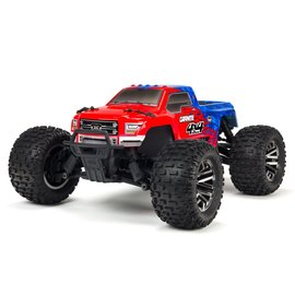 Arrma ARA102720T2  Red / Blue 1/10 Granite 3S BLX 4WD Brushless Monster Truck with Spektrum RTR