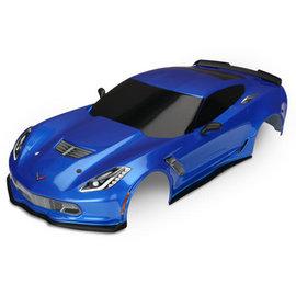 Traxxas TRA8386X  Blue Corvette Z06 Body 4-Tec 2.0