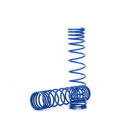 Traxxas TRA8445A  Rear Shock Spring (Blue) (GTR) (Progressive 1.042 Rate) (2)