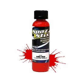 Spaz Stix SZX02300  Fire Red Fluorescent Airbrush Paint (2oz)